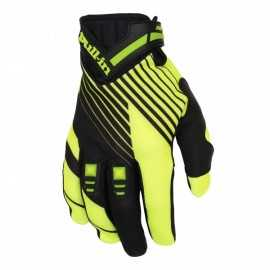 Gants cross Pull-in stripes noir jaune fluo