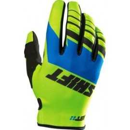 Gants shift assault race jaune fluo bleu