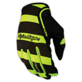 Gants Troy lee designs XC Caution jaune fluo noir