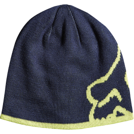 Bonnet Fox enfant streamliner reversible bleu marine vert