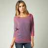 tee-shirt fox femme constant manches longues dolman acid red
