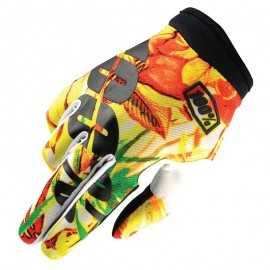 Gants 100% Itrack orange jaune