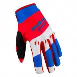 Gants cross Pull-in fighter bleu blanc rouge