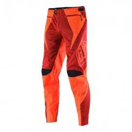 Pantalon Troy lee designs Sprint Reflex Rocket rouge orange fluo