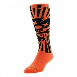 Chaussettes Cross Troy lee designs GP Skully orange fluo