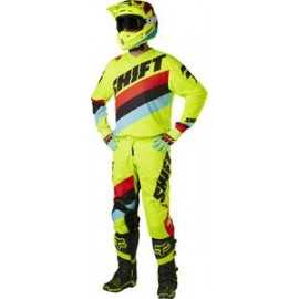 Tenue Shift enfant Whit3 Tarmac jaune fluo