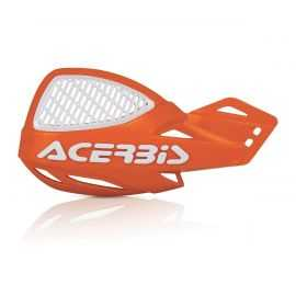 Protèges mains Acerbis mx uniko vented orange blanc