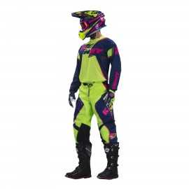 Tenue kenny enfant track marine lime rose fluo