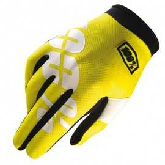 Gants 100% Itrack jaune fluo