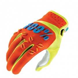 Gants 100% Airmatic orange jaune fluo