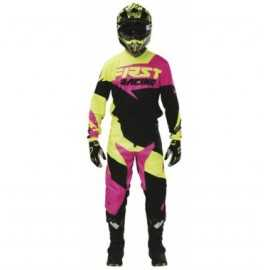 Tenue firstracing data rose fluo 2017