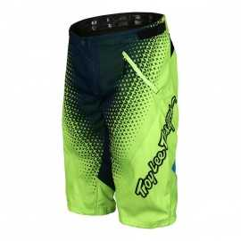 Short troy lee designs sprint starburst jaune fluo