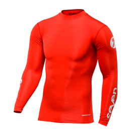 Maillot Seven Zero compression rouge 2019