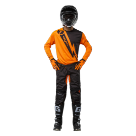 Tenue cross Seven enfant Annex Volt orange fluo