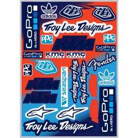Planche stickers team ktm troy lee designs