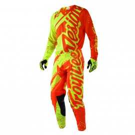 Tenue troy lee designs se air shadow jaune fluo orange fluo