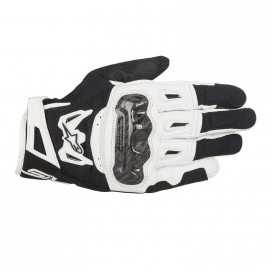 Gants alpinestars smx-1 air carbon v2 noir blanc