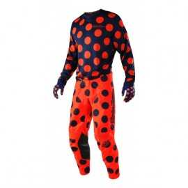 Tenue Troy lee designs GP Air Polka Dot navy orange fluo