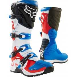 Bottes cross Fox Comp 5 bleu rouge