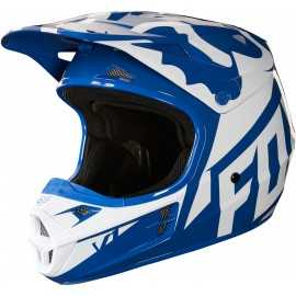 Casque Fox cross v1 race bleu 2018