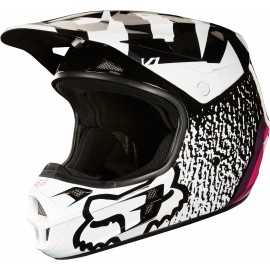 Casque cross Fox V1 halyn noir rose