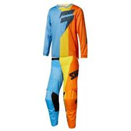 Tenue Shift enfant Whit3 Tarmac orange bleu