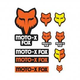 Lot de 10 stickers fox orange