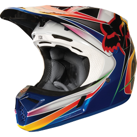 Casque cross Fox V3 Kustm multicouleurs