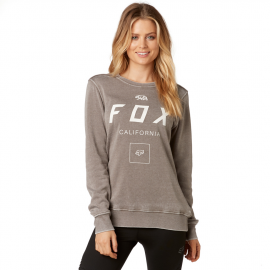 Pull femme fox crowled po gris