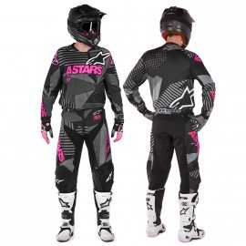 Tenue cross Alpinestars Racer Tactical noir rose fluo 2018