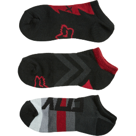 Chaussettes Fox courtes Foxy no show dark rouge