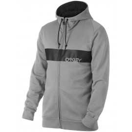 Sweat Oakley Crossbar Mark II full zip gris