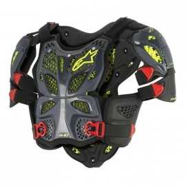 Pare pierre alpinestars A10 full protector antracite noir rouge