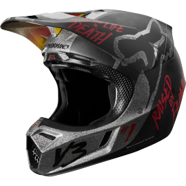 Casque cross Fox v3 édition limitée rodka light grey