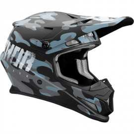 Casque cross thor sector covert mat bleu nuit 2018