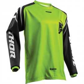 Maillot cross Thor Sector Zone lime