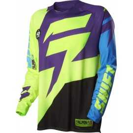 Maillot cross shift faction purple yellow