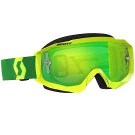 Masque Scott hustle mx jaune vert écran vert chrome works