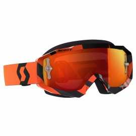 Masque Scott hustle mx noir orange écran orange chrome works