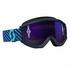 Masque Scott Recoil Xi blue teal écran purple chrome works