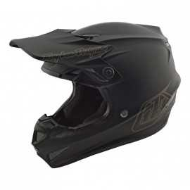 Casque cross Troy Lee Designs SE4 mono noir