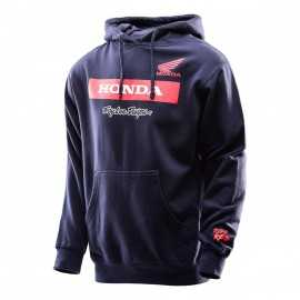 Sweat Troy lee designs Honda wing à capuche navy