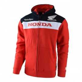Sweat Troy lee designs Honda zippé rouge