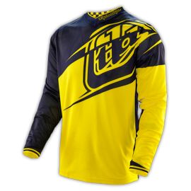 Maillot Troy Lee Designs GP Air Flexion noir jaune