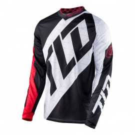 Maillot Troy Lee Designs GP Quest rouge blanc noir