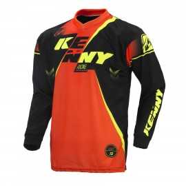 Maillot cross Kenny track noir orange fluo 2017