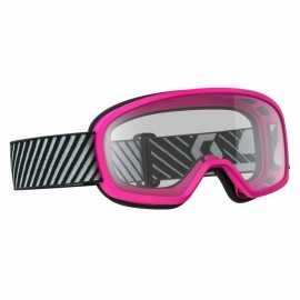 masque oakley xs o-frame mx enfant high voltage rose bleu écran clair