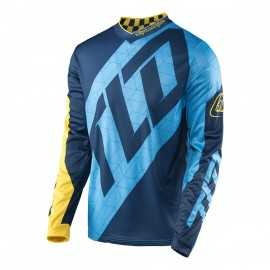 Maillot Troy Lee Designs GP Quest bleu jaune