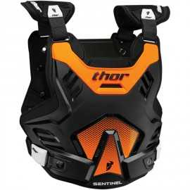 Pare pierre Thor Sentinel GP noir orange fluo