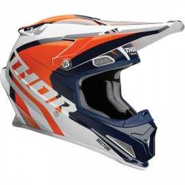 Casque cross Thor Sector Ricochet white navy orange 2018
